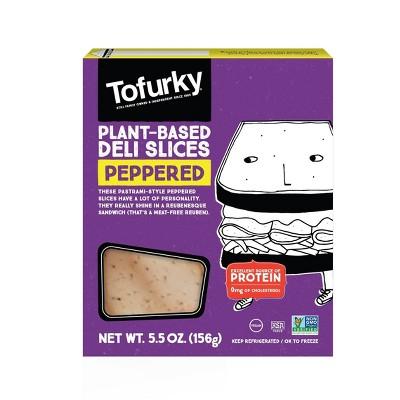 Tofurky Plant-Based Organic Vegan Peppered Deli Slices - 5.5oz