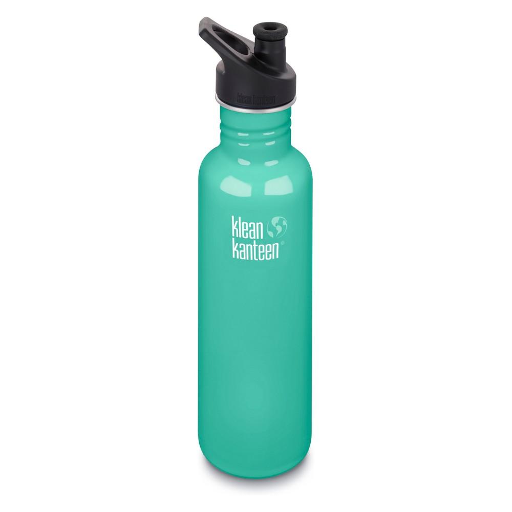 Klean Kanteen 27oz Classic Bottle with Loop Cap - Teal Blue