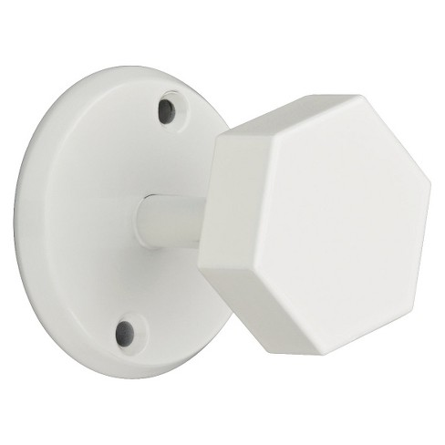 Young House Love Chunky Hexagon Rail Hook - White - image 1 of 3