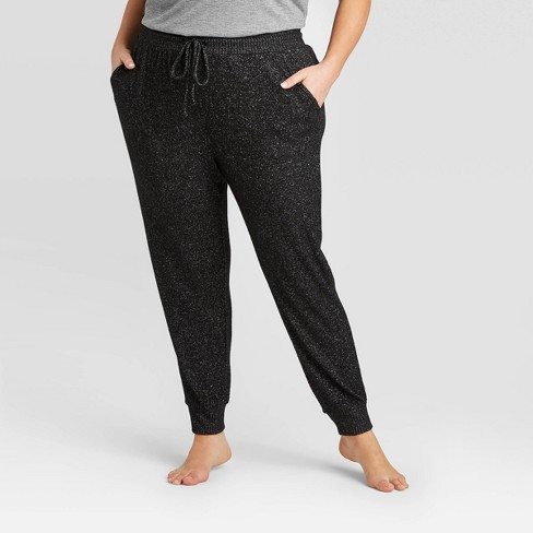 Women's Plus Size Perfectly Cozy Lounge Jogger Pants - Stars Above™ - image 1 of 2