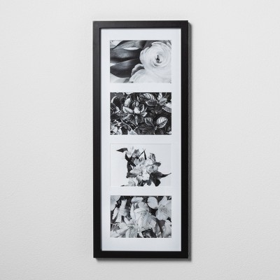 Thin Collage Frame Holds 4 Photos Black 5 x7  - Made By Design™