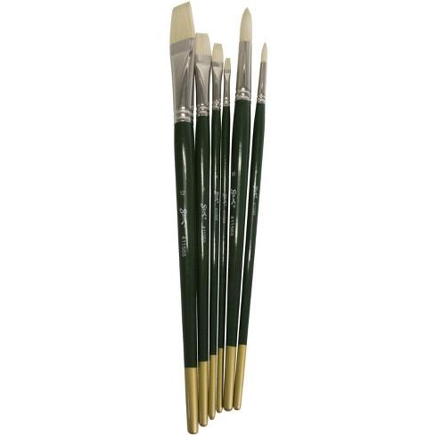 Sax Olympia Interlocked Hog Hair Bristle Long Handle Paint Brushes, Assorted Sizes, set of 6 - image 1 of 2