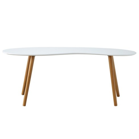 Oslo Bean Shaped Coffee Table White