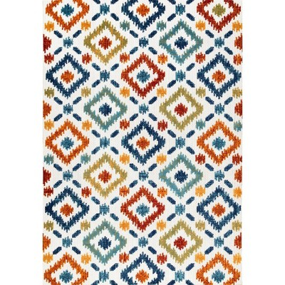 nuLOOM Indoor/Outdoor Transitional Labyrinth Area Rug