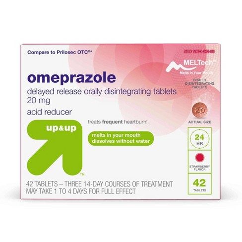 Omeprazole Delayed Release Orally Dissolving Tablets - Strawberry - 42ct - Up&Up™ - image 1 of 3