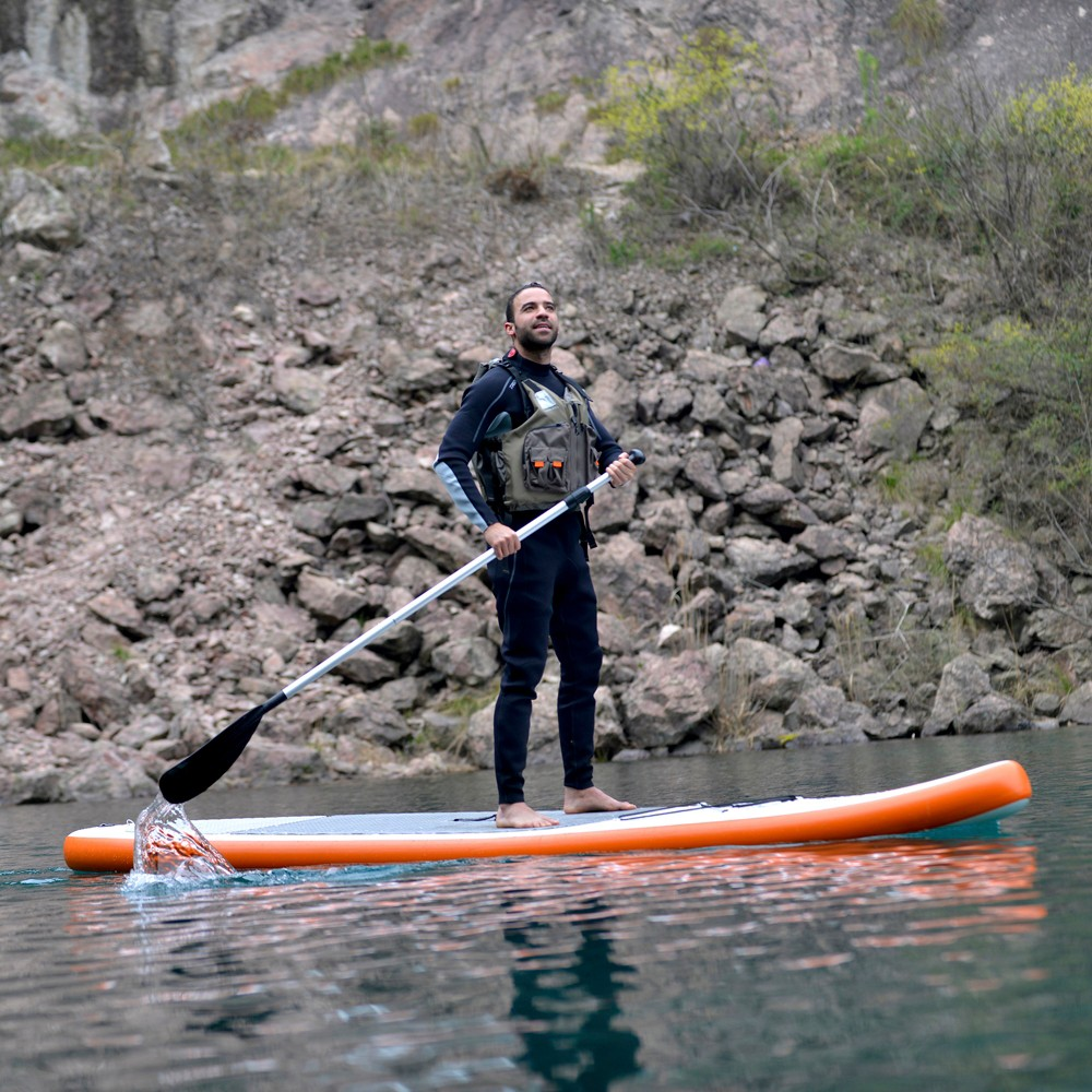 Stingray 10-ft Inflatable Stand Up Paddleboard w/ Paddle & Hand Pump, Orange