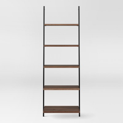 72  Loring 5 Shelf Leaning Bookcase Walnut - Project 62™