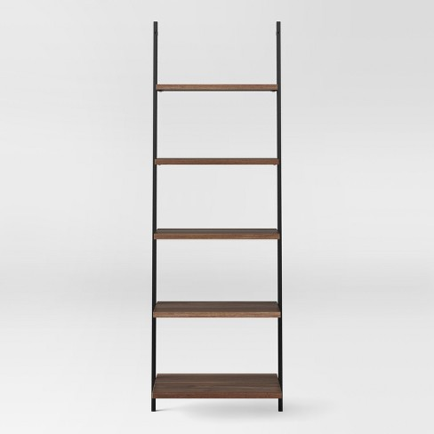 Loring 72 5 Shelf Leaning Bookcase