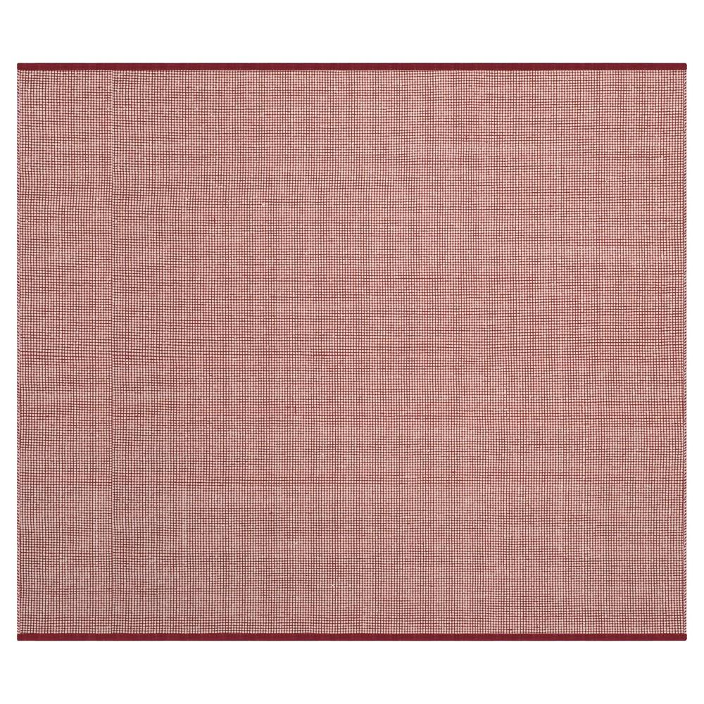 Ivory/Red Stripe Flatweave Woven Square Area Rug - (6'X6') - Safavieh
