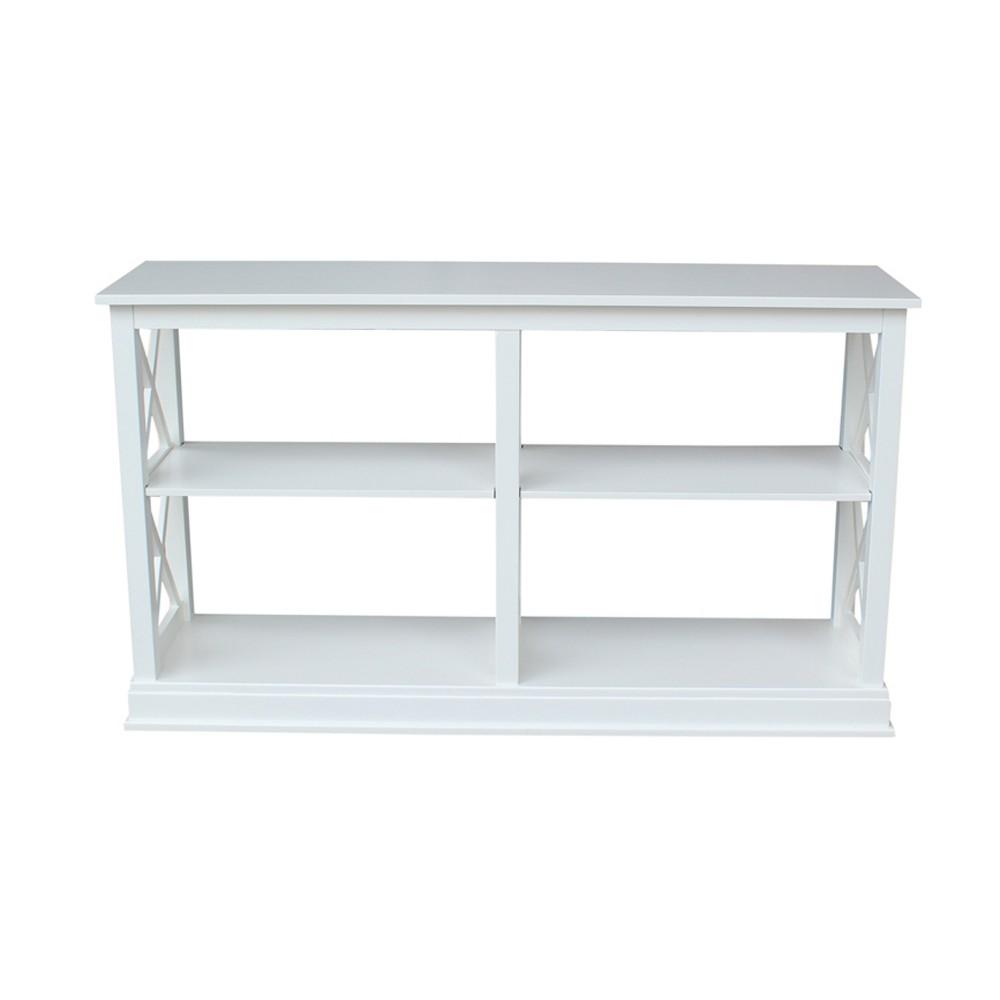 Hampton Sofa - Server Table with Shelves - White - International Concepts