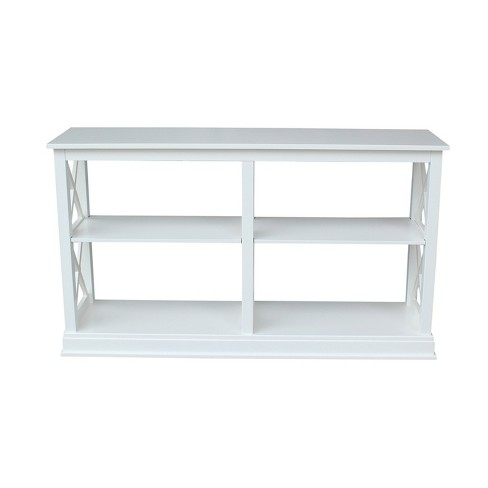 Hampton Sofa - Server Table with Shelves - White - International Concepts - image 1 of 7
