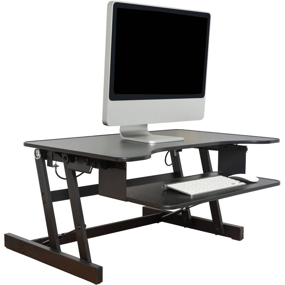 Image of Lorell Adjustable Desk/Monitor Riser, Black