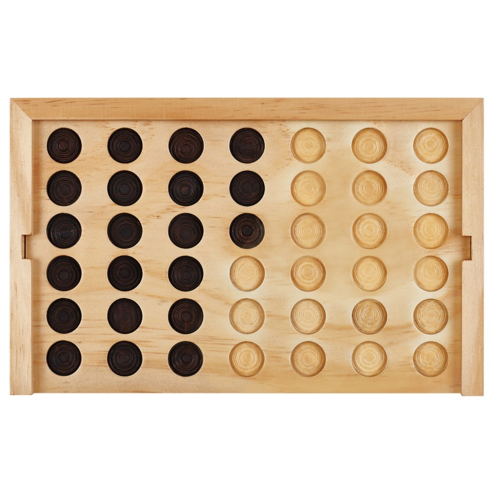 Image of Mini Wooden Desk Game Connect Four - Threshold