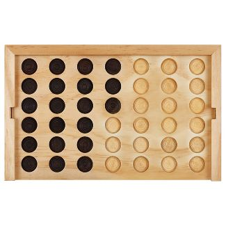 Mini Wooden Desk Game Connect Four - Threshold™