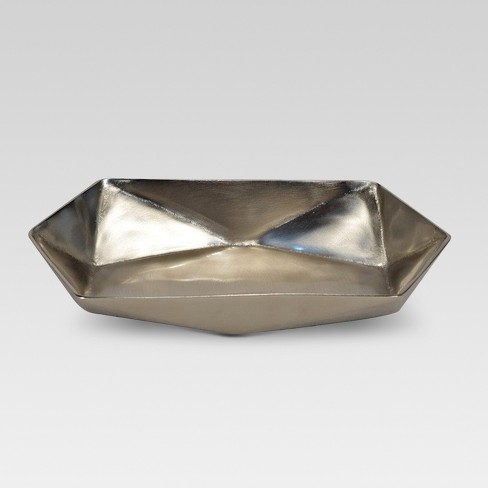 Faceted Metal Tray Silver - Project 62™ - image 1 of 1