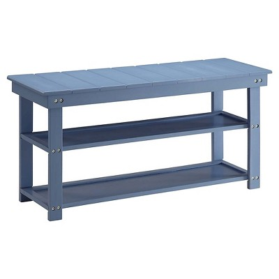 Oxford Utility Mudroom Bench Blue - Breighton Home