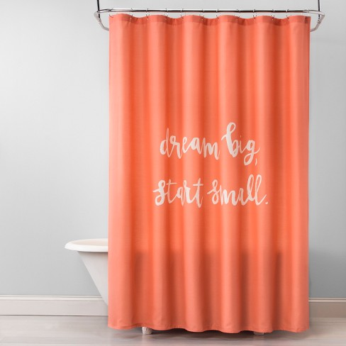 Dream Big Shower Curtain Georgia Clay Opaque