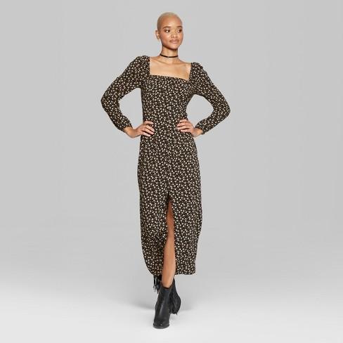 b3dc1e7524c Women s Button Front Maxi Dress - Wild Fable™ Black   Target