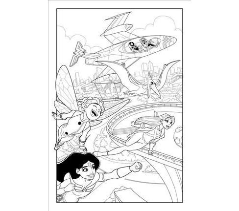 Dc Super Hero Girls A Kids Coloring Book Paperback Target