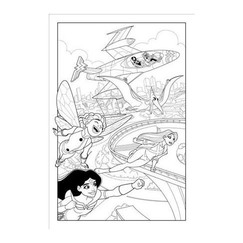 DC Super Hero Girls : A Kids Coloring Book (Paperback) : Target