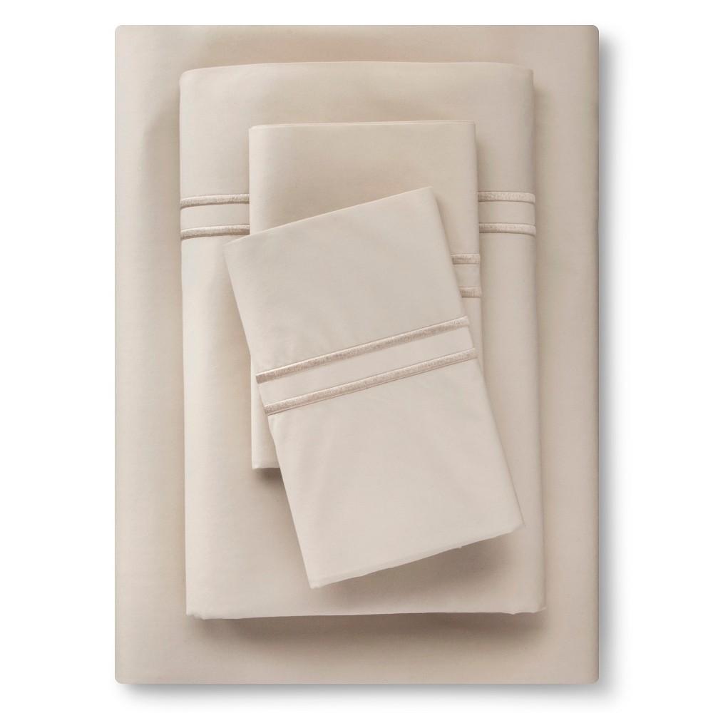 Supima Hotel Sheet Set (Full) Sea Salt Tonal - Fieldcrest