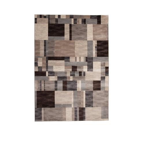 Abacasa Sonoma Kelso Charcoal-Ivory-Grey 5x8 Area Rug - Sam's International - image 1 of 1