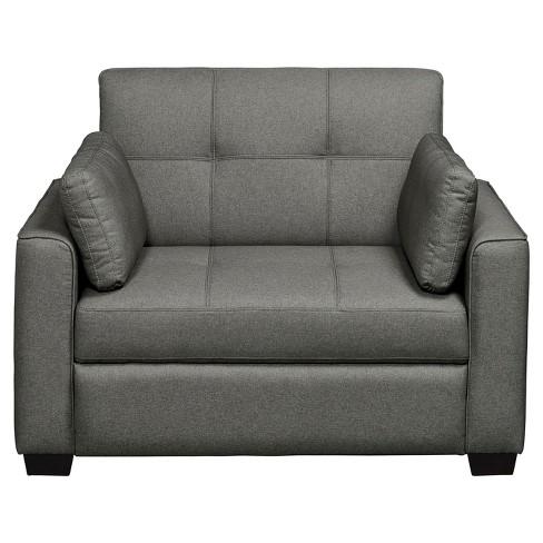Olsen Convertible Chair   Twin   Grey   Serta : Target