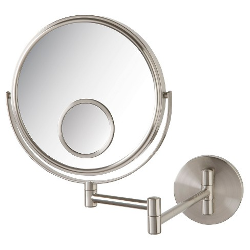 Jerdon 10X-1X with 15X Spot Wall Mount Mirror Nickel - image 1 of 1