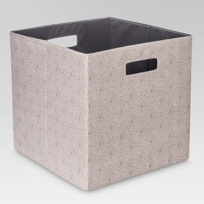 13  Fabric Cube Storage Bin Mocha - Threshold™