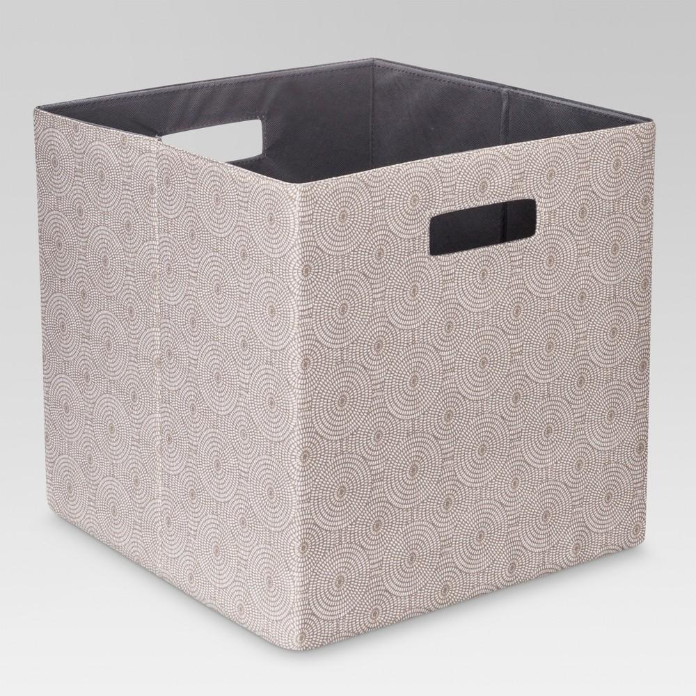 "Image of ""13"""" Fabric Cube Storage Bin Mocha - Threshold , Brown"""