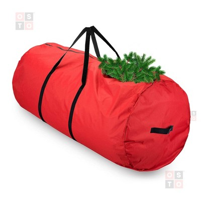 OSTO Round Premium Christmas Tree Storage Bag for Disassembled Trees up to 9 Feet, Tear Proof 600D Oxford 60 x 30 x 30