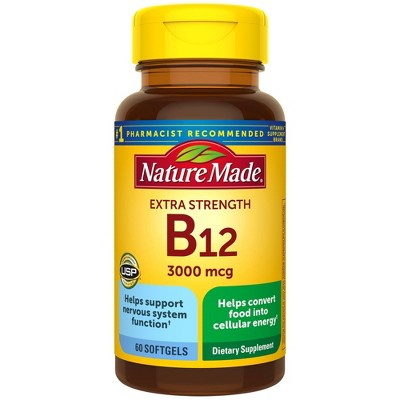 Nature Made Extra Strength Vitamin B12 3000 mcg Softgels - 60ct