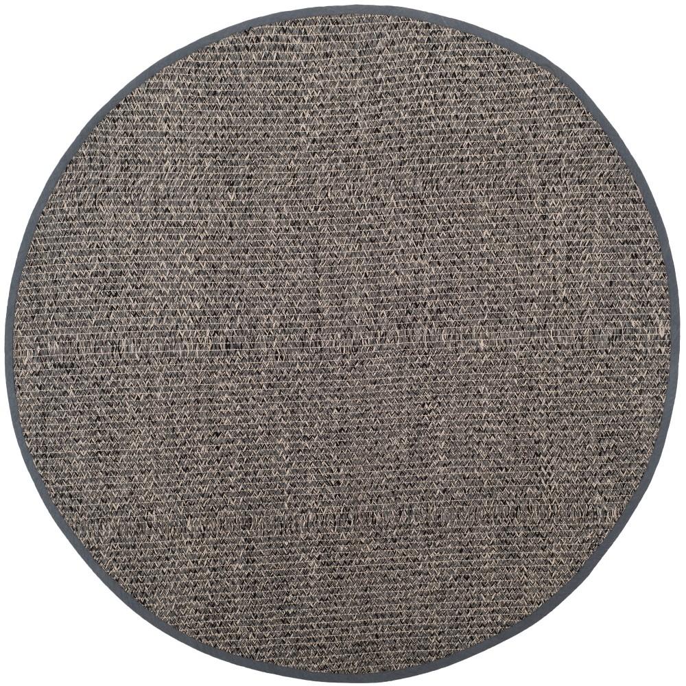 6' Solid Woven Round Area Rug Gray - Safavieh, Gray/Multi-Colored