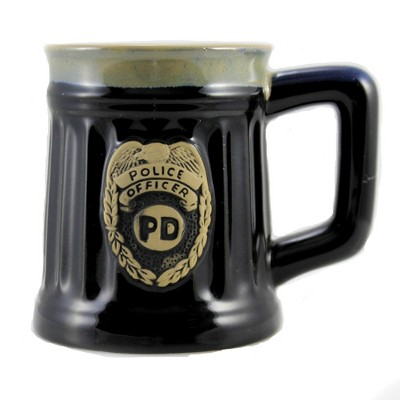 "Tabletop 4.5"" Police Officer Mug Law Enforcement Badge Burton & Burton  -  Drinkware"