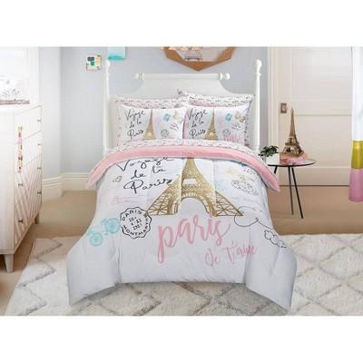 Twin Bonjour Comforter Set Pink - Heritage Club