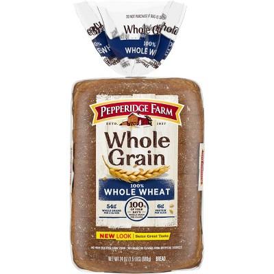 Pepperidge Farm 100% Whole Grain Whole Wheat Bread - 24oz