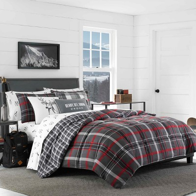 Gray Willow Plaid Comforter Set (Full/Queen)- Eddie Bauer