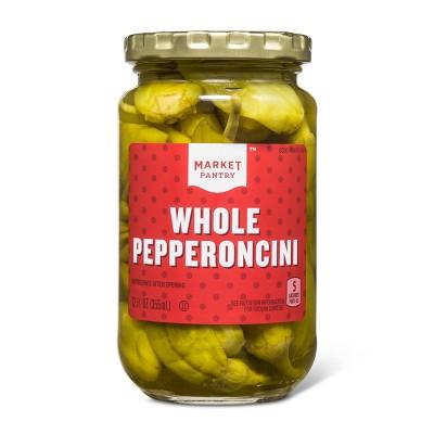 Whole Pepperoncinis 12 fl oz - Market Pantry™