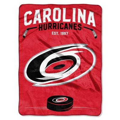 NHL Carolina Hurricanes Inspired Raschel Throw Blanket