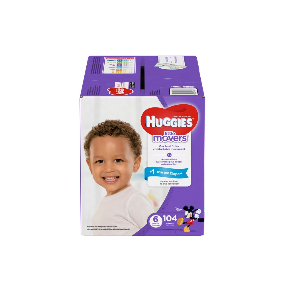 Huggies Little Movers Diapers - Size 6 (104ct)