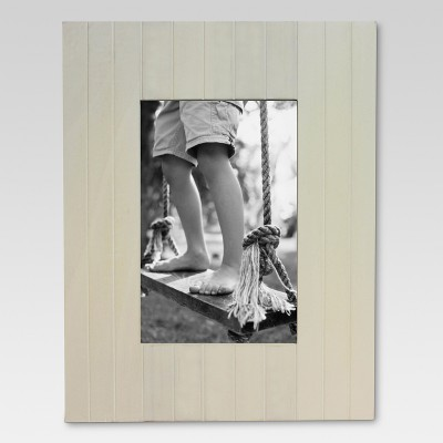 Linear Grooved Wood Frame 4X6 Sour Cream - Threshold™