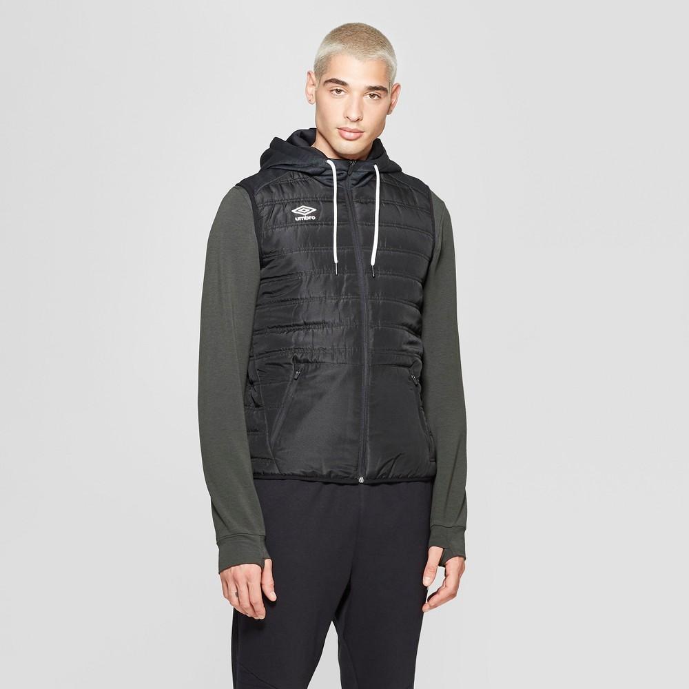 Umbro Men's Fleece Puffer Vests - Black S