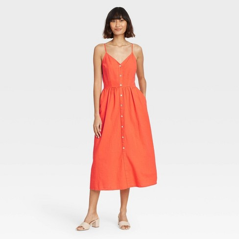 Women's Sleeveless Button-Front Dress - A New Day™ - image 1 of 3