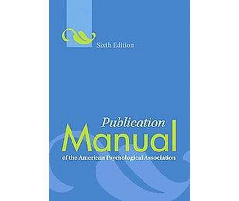 Publication Manual of the American Psychological Association (Paperback) - image 1 of 1