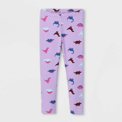 Toddler Girls' Dinosaur Leggings - Cat & Jack™ Violet