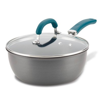 Rachael Ray Create Delicious 3qt Hard Anodized Nonstick Everything Pan with Lid Gray
