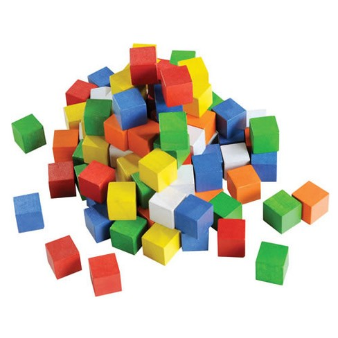 Learning Advantage Wooden Cubes Jar - 102 Pieces - image 1 of 3