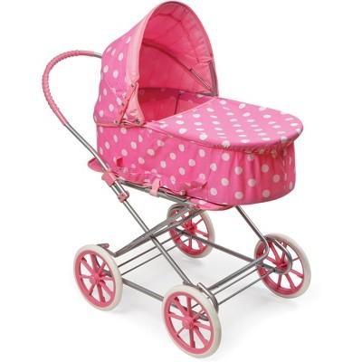 Badger Basket 3-in-1 Doll Carrier/Stroller - Pink & White Polka Dots