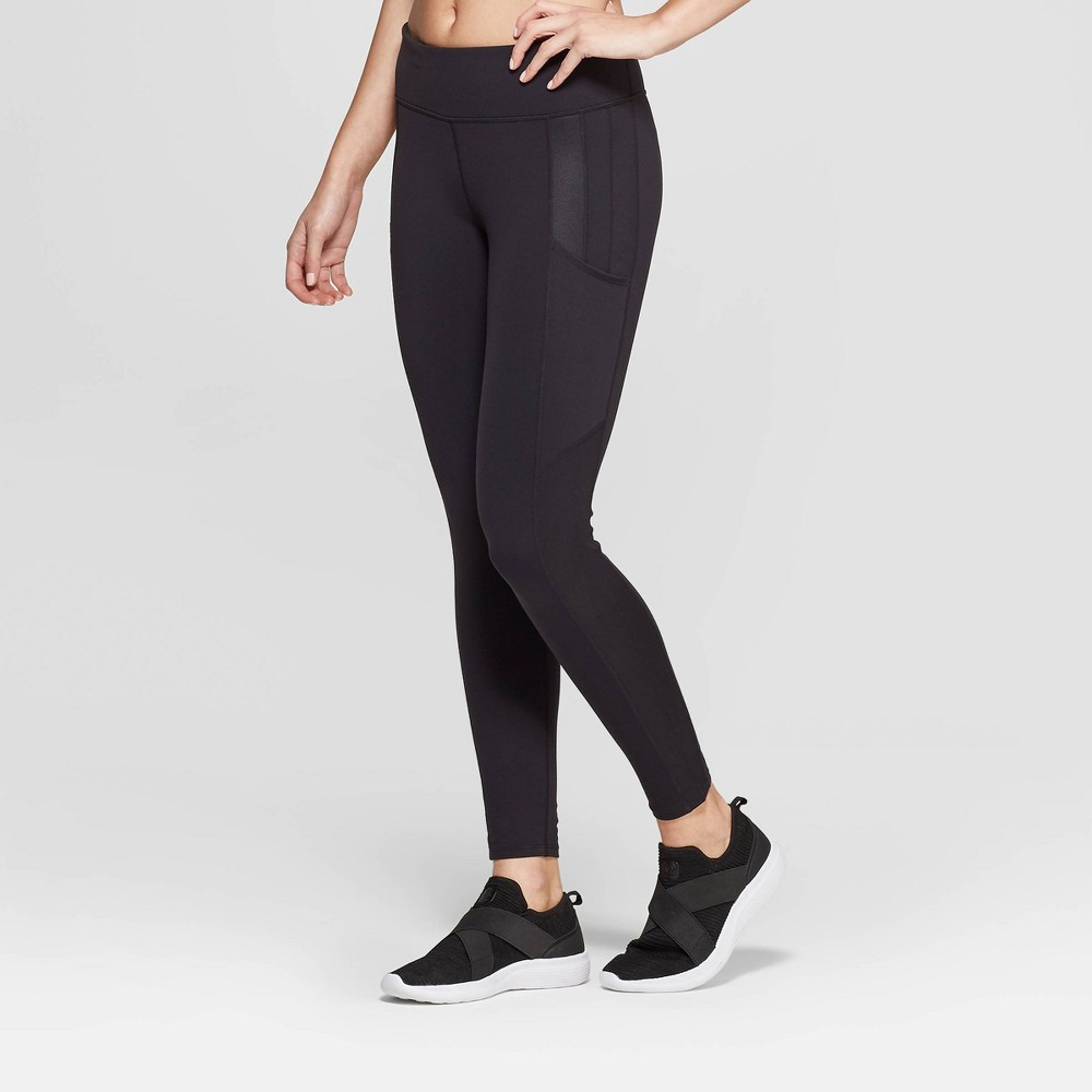 Women's Mid-Rise 7/8 Premium Leggings - JoyLab Black M