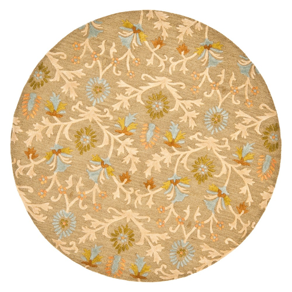 Medallion Tufted Round Area Rug Moss